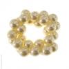 Catogan perles blanches