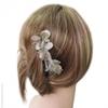 Peigne à cheveux pétales argent très clair