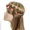 Headband  couronne petites fleurs rouges, roses ou fushia