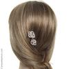 Épingle à cheveux Camélia strass