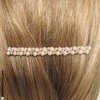 Barrette cheveux mariage or, perles et strass