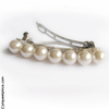 Barrette cheveux grosses perles blanches