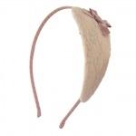 serre-tête dentelle vieux rose (3)
