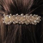 barrette cheveux - perles en cristal  (1)
