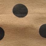 Bandeau cheveux - caramel et gros pois noirs  (1)