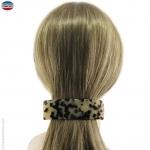 Grande barrette cheveux écaille claire