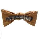 barrette pour cheveux noeud - couleur pêche façon cuir