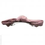 barrette pour cheveux  rose - noeud  façon cuir
