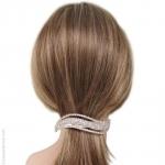 barette cheveux strass vague
