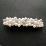 Barrette pour cheveux perles