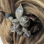 Barrette cheveux torsadée  python