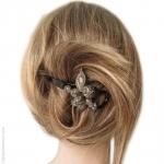 Barrette pour cheveux torsadée  python