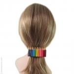 Barrette à cheveux crayons