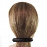 barrette cheveux en gomme noire