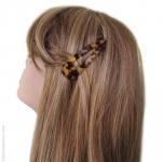 barrette cheveux clic clac écaille foncé