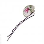 barette cheveux fleur rose