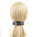 barrette cheveux noire effet tissu