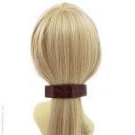 barrette cheveux rouge effet tissu