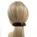 barrette cheveux arrondie écaille