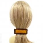 barrette à cheveux feutrine jaune et brun copie