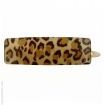 barrette cheveux léopard rectangulaire