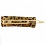 barrette cheveux léopard rectangle