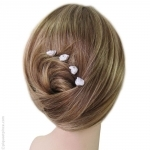 Pics cheveux fleur tissu et strass
