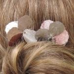 pics à cheveux pétales argentés et roses