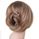 pics cheveux mariage perles et strass