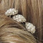 pics à cheveux mariage perles et strass
