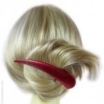 accessoires cheveux métal rouge