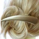 accessoire pour cheveux métal doré