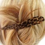 pince cheveux léopard