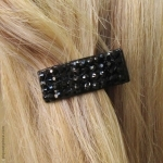 petite pince cheveux strass noirs