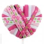 élastiques  cheveux rose et blanc