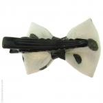 barrette à cheveux noeud blanc