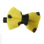barrette à cheveux noeud jaune
