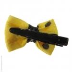 barrette cheveux noeud jaune