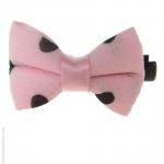 barrette à cheveux noeud rose