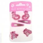 barrettes cheveux roses enfant