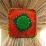 élastique de cheveux orange