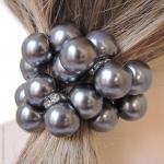 élastique à cheveux perles et strass