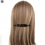 barrette à cheveux fine écaille et noire