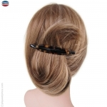 barrette pour cheveux fine écaille et noire