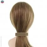 barrette cheveux beige moyenne liseré crème