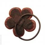 élastique à cheveux fleur  brique