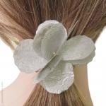 elastique à cheveux pétales argent