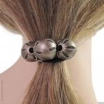 élastique cheveux perles  bronze