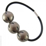 élastique pour cheveux perles  bronze