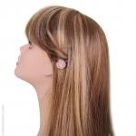 Barrette cheveux fleur rose